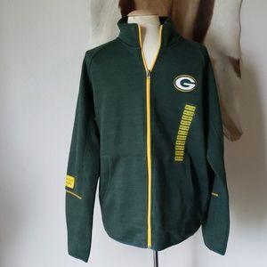 NWT Green Bay Packers zip up sweatshirt